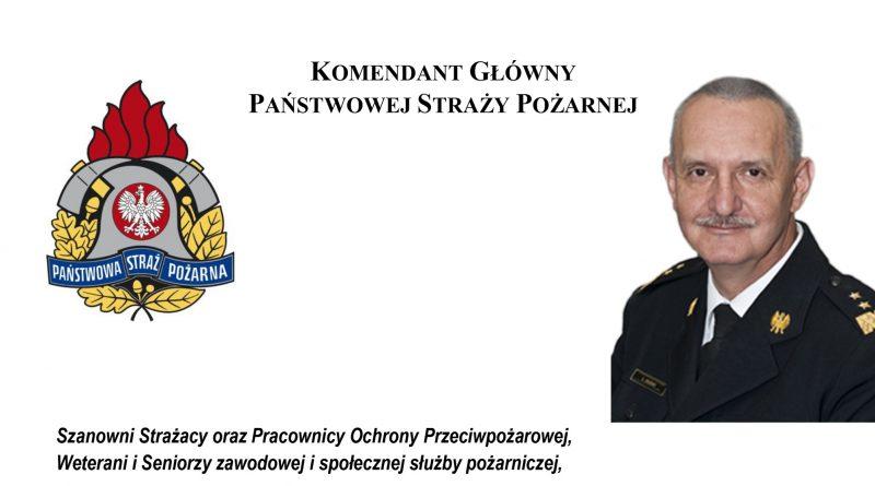 List Komendanta Głównego Państwowej Straży Pożarnej z okazji Dnia Strażaka