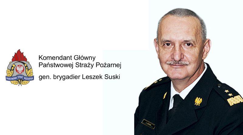 List Komendanta Głównego gen. brygadiera Leszka Suskiego z okazji Narodowego Święta Niepodległości