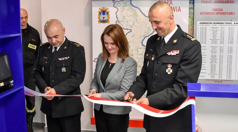 Otwarcie Stanowiska Kierowania KP PSP w Jarosławiu po przeprowadzonym remoncie