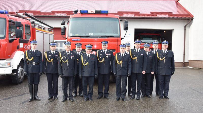 Pożegnanie Zastępcy Komendanta i  Zastępcy Dowódcy JRG w Jarosławiu
